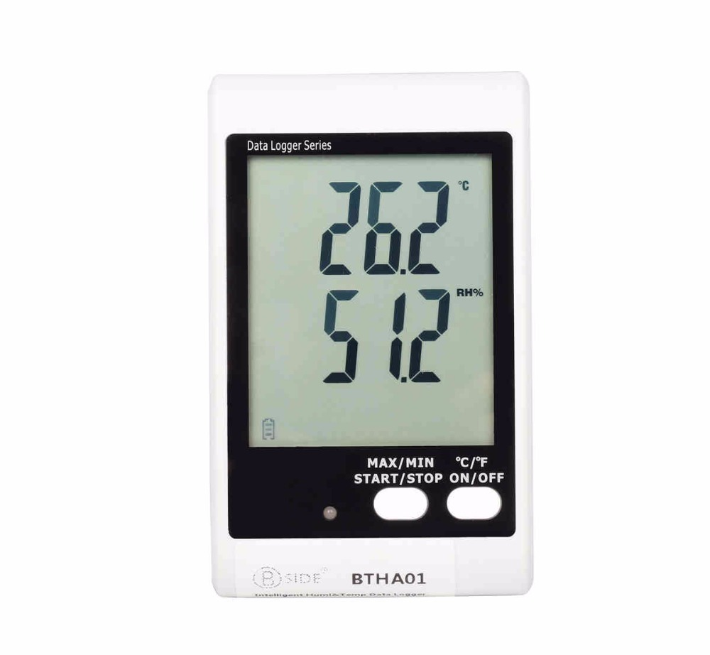 BSIDE BTHA01 Temperature & Humidity Data Logger usb  w/ Built-in Probe & Sound-Light Alarm handheld professional humidity and temperature sd data logger with built in internal