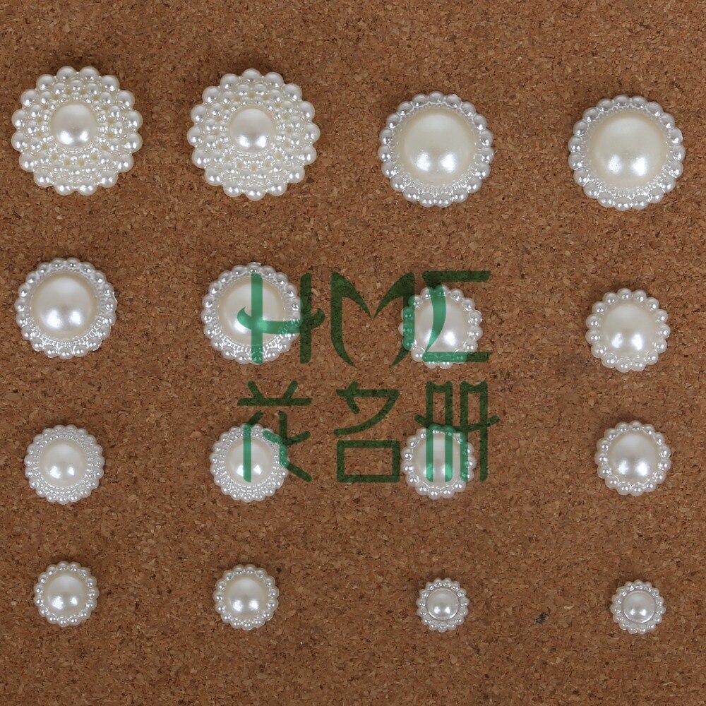 60-600 шт./пакет плоской задней кабошон Imatation Пластик ABS жемчужина цветок для DIY бусины Craft телефон украшения
