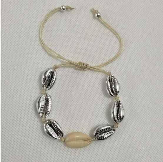 1pc Cowrie bransoletka z muszli femme regulowany boho Macrame przyjaźń prawdziwe morze bransoletka z muszli dzień matki biżuteria prezent 8445-8450