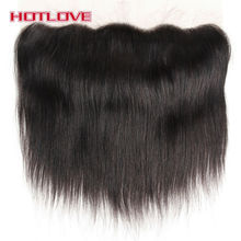 Hotlove Hair Straight Lace Frontal Closure 13*4 Ear To Ear Full Frontal Free Part Closure Natural Color 100% Remy Human Hair