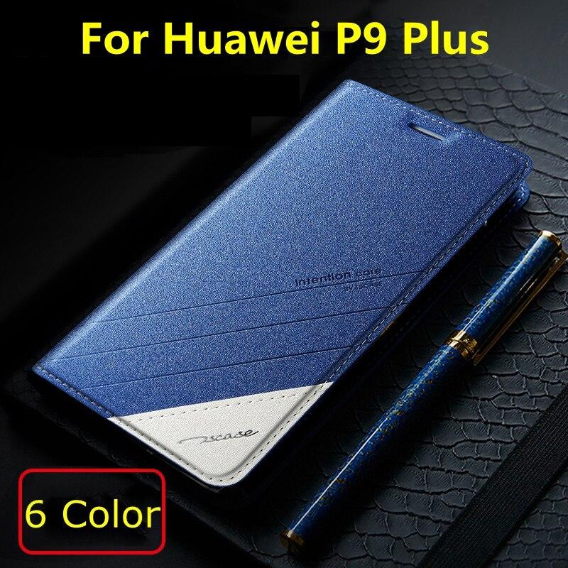 """bilder für 5 Farben Für Huawei Ascend P9 Plus 5,5 """"ursprüngliche Tscase Marke, Top Qualität Leder Stehen Flip-Cover Magnet Fall Für Huawei P9 Plus"""