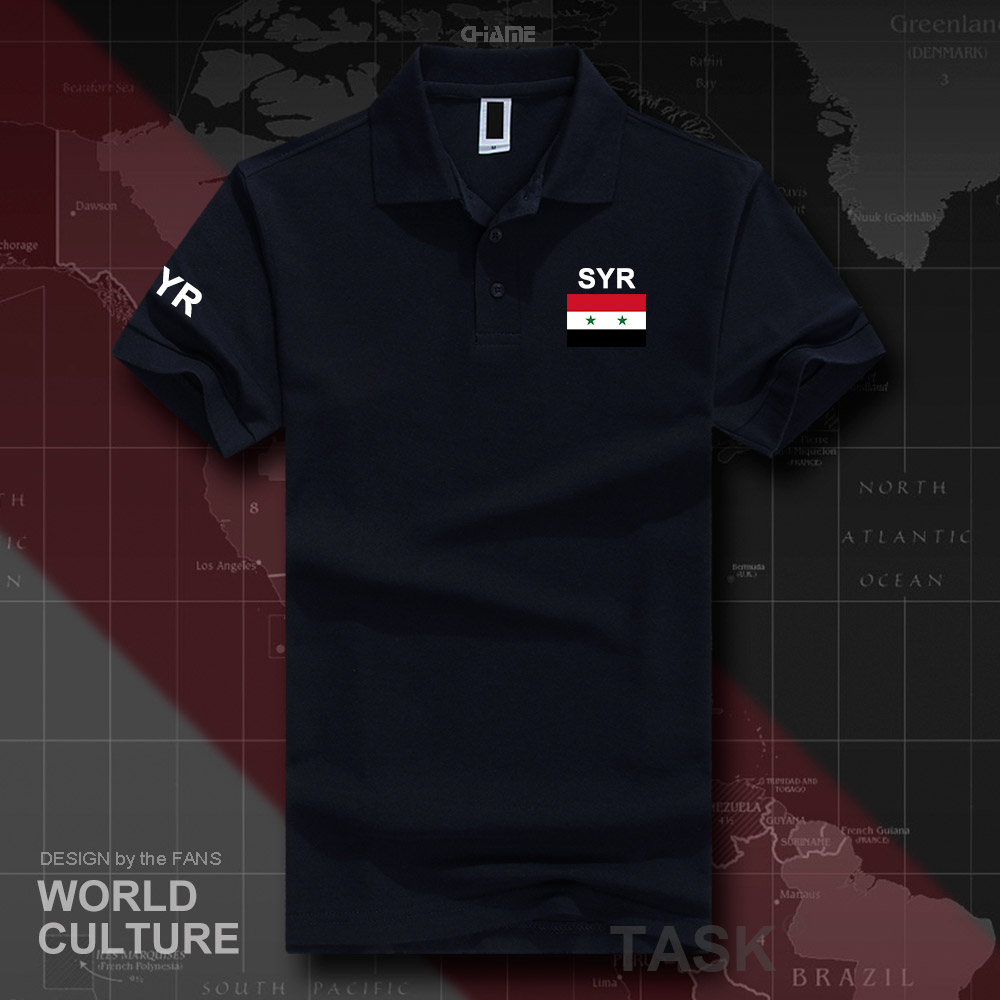 Syrian Arab Republic Syria   polo   shirts men short sleeve white brands printed for country 2017 cotton nation team flag SYR Arabic