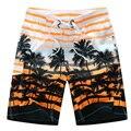 2017 Летом Новая Мода Печатных Короткие Купальники Для Мужчин Потерять Плюс Размер Растянуть Boardshorts
