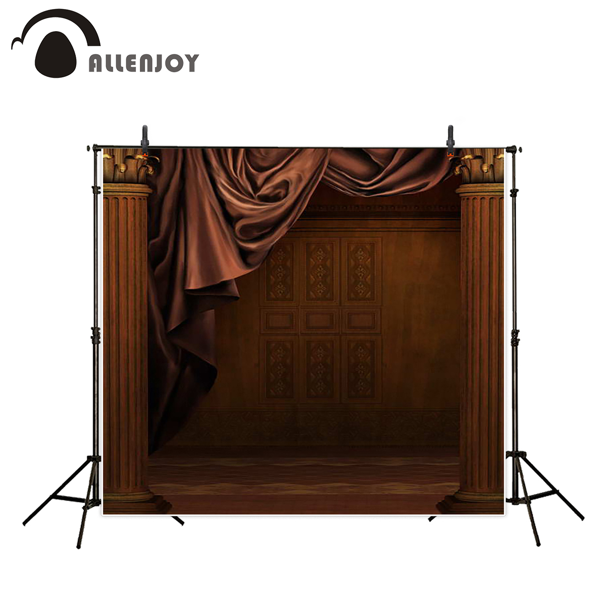 Allenjoy backgrounds for photo studio vintage brown palace newborn photobooth backdrops photographic photocall customize jbl studio 225c brown