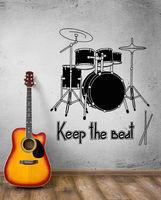 Neue mode musik kunst rock drum rhythm konzert beat vinyl aufkleber kostenloser versand