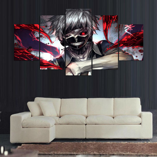 Anime Ken Kaneki Tokyo Ghoul Paintings
