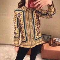 WD05568 Модные женские блузки и рубашки 2019 для подиума роскошный известный бренд Европейский дизайн вечерние Стиль Женская одежда