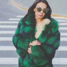 Real Fur Coat Women Winter Fashion Genuine Fur Short Female Plus Size Winter Jacket Thick Natrual Fox Fur Coat with Fur Collar