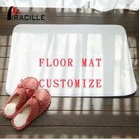 Miracille personnalisé tapis de sol en molleton de corail décor de bain tapis de porte antidérapant avec votre Image tapis et tapis pour la maison salon
