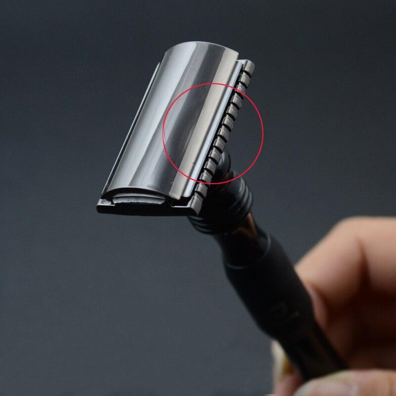 New 1 Razor 10 Blades Double Edge Razor Men Shaving Manual Classic Wet Shaver Metal Handle Safety Razors  3