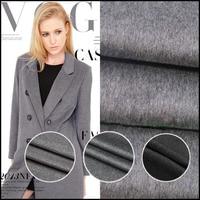 Gray wool cashmere wool fabrics autumn and winter coat clothing cloth jacket cloak fabrics