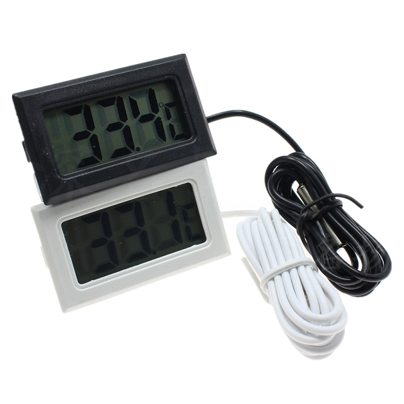 Waterproof LCD Electronic Pet Aquarium Thermometer Digital Outdoor Temperature Measure Tool With Probe Aquatic Products 2