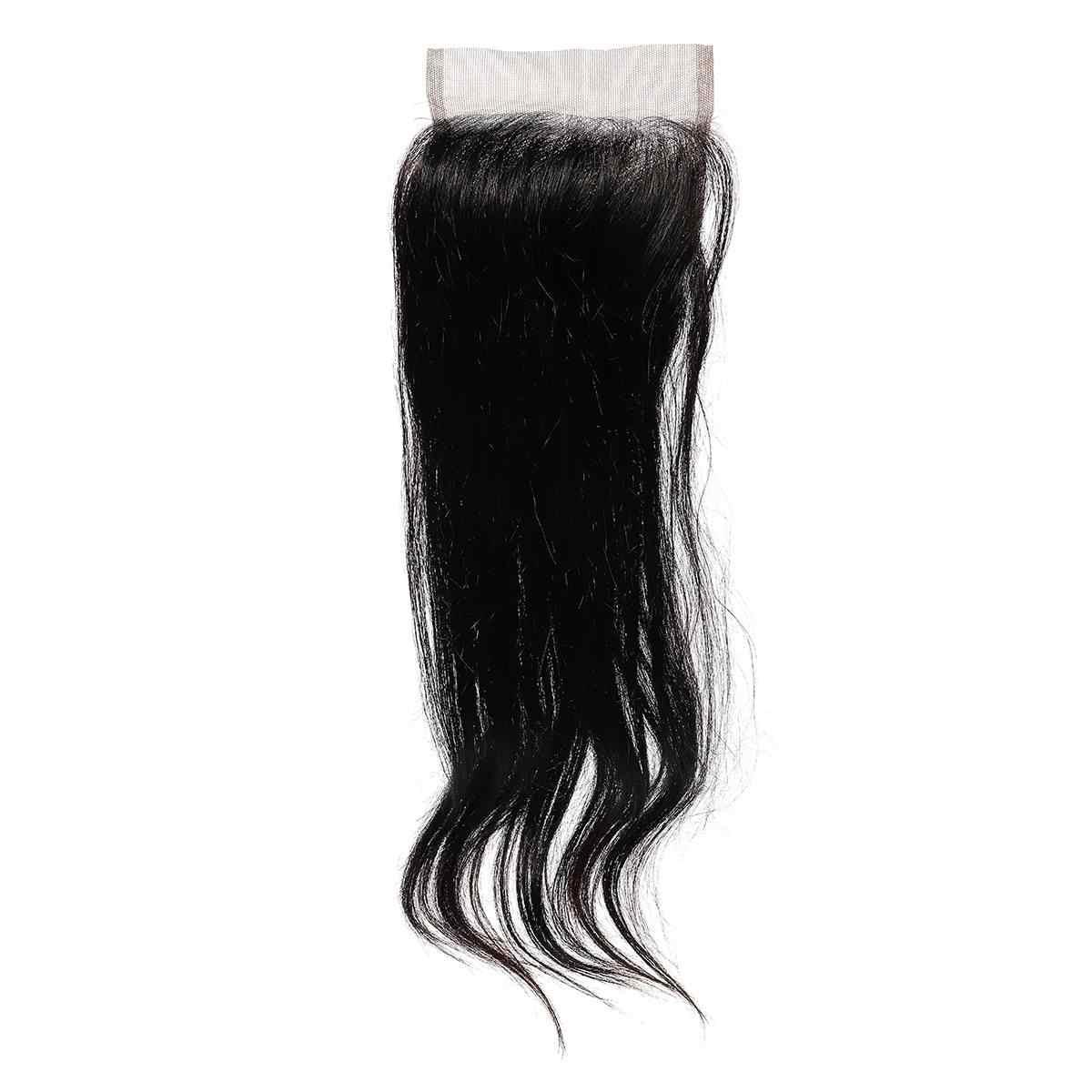 Женщины ручной работы моно прямые длинные волосы парик 100% человеческих волос Парики шиньон, небольшой парик Топ кусок черный темно-коричневый