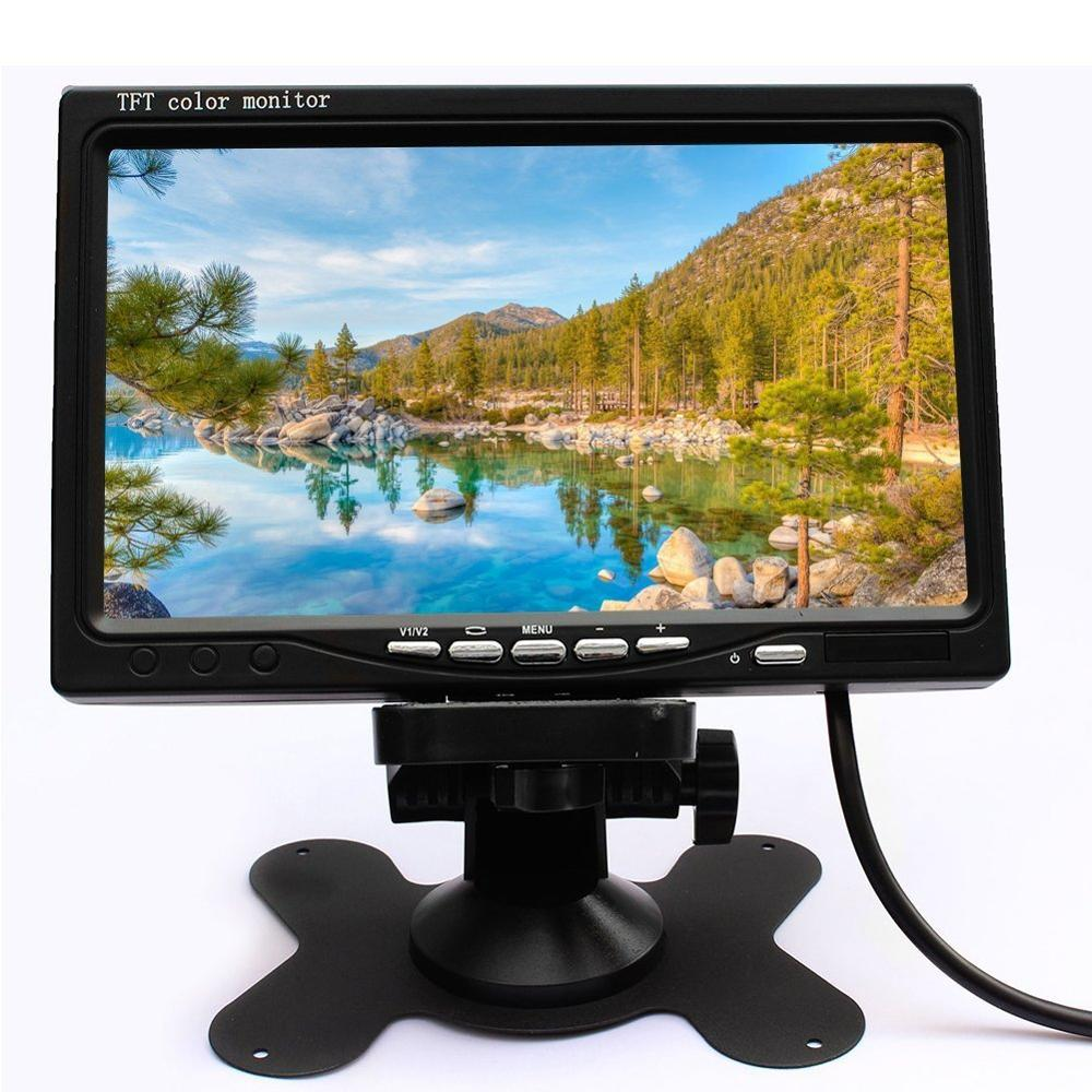 7 inch TFT LCD Color Car Rear View Camera Resolution: 480 x 234 Pixels 2 Video Input Car Rear View Monitor DVD VCR Monitor
