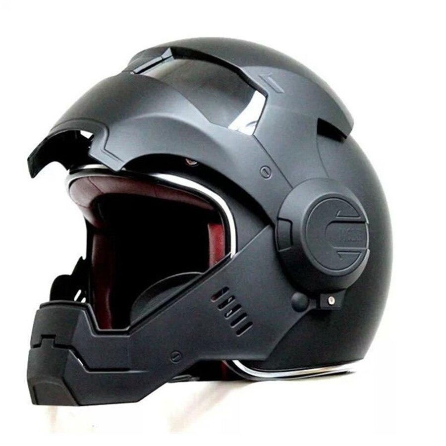Livraison gratuite 1 pcs Haute Qualité Iron Man Casque de Moto Masei Open Face Demi Casque Motocross Moto Casque