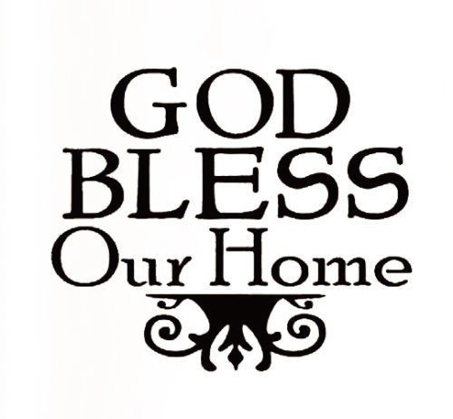 Wonderful Creative European Style God Bless Our Home Wall Stickers Quotes  SD94