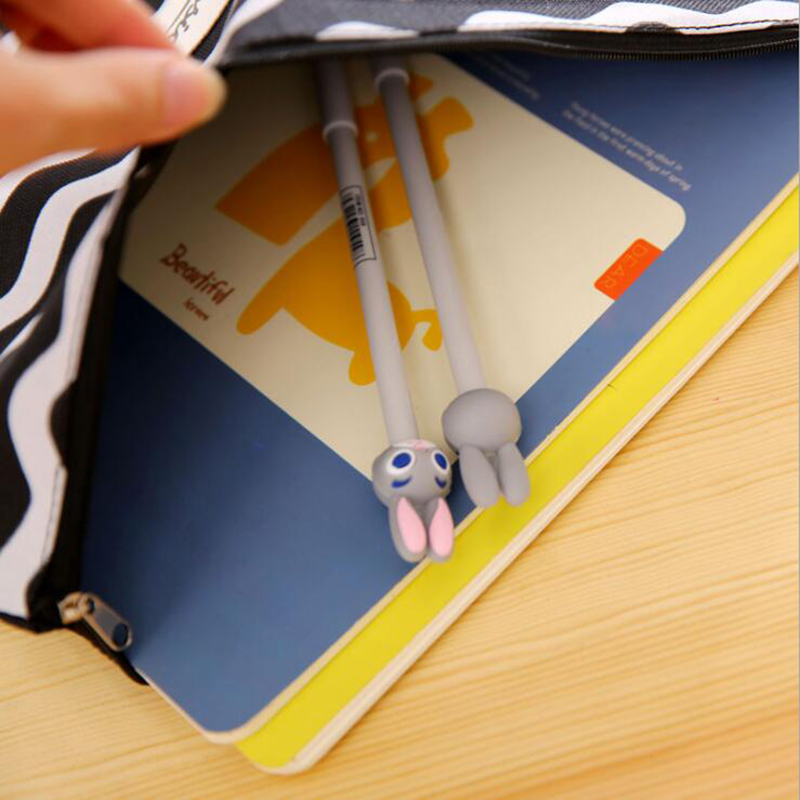 Cute A4 Stripe File Bag Black Bottom Wave Oxford Cloth File Bag Creative Student Papers Archives Storage Bag Office Stationery