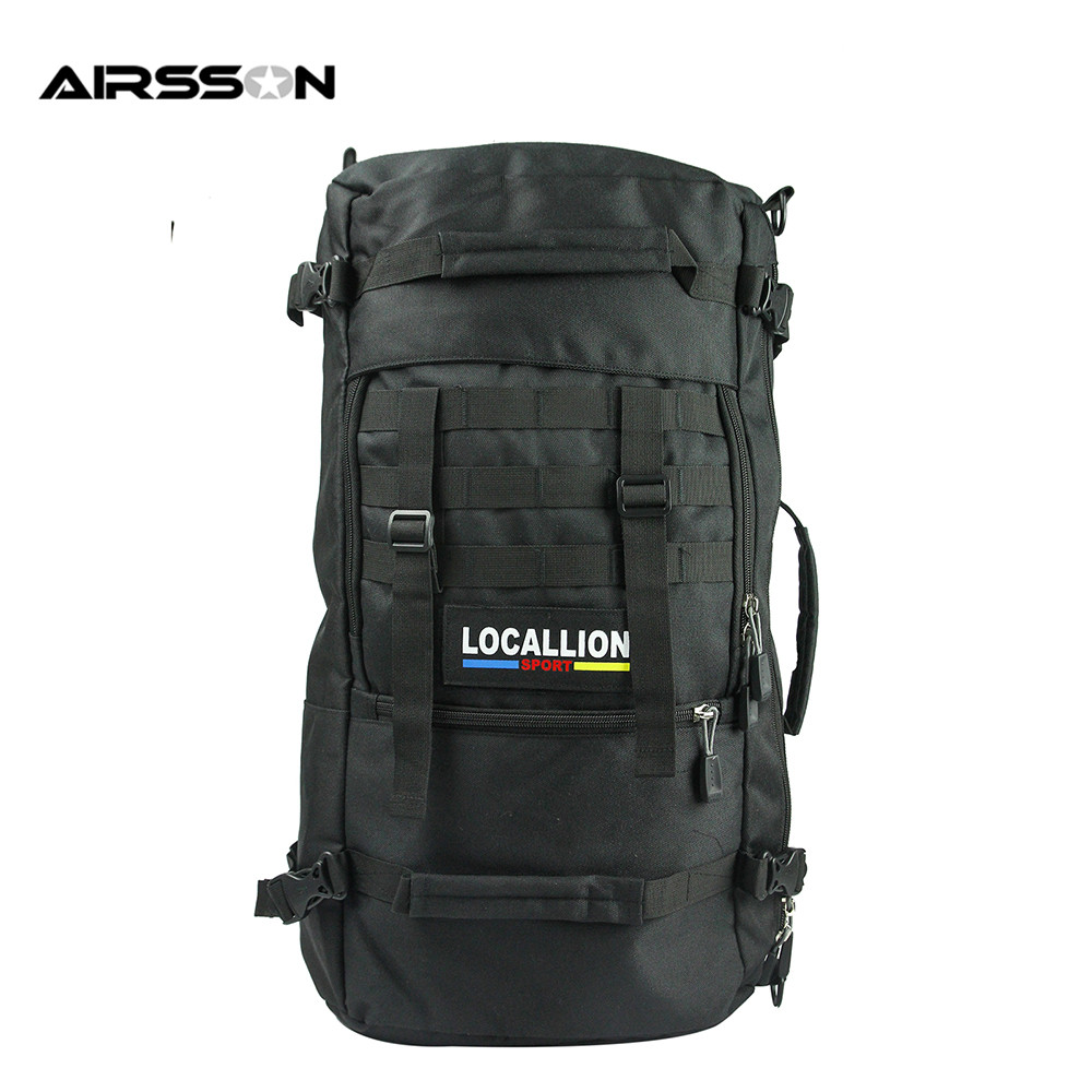 Airsson Outdoor Large Capacity Molle Tactical Backpack Nylon Sports Mountaineering Travel Hiking Bag Camping Military Rucksack