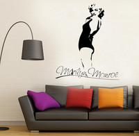Removable Marilyn Monroe swimming suit Wall Decal Stickers Home Decor Sexy Girl Decor Sticker GW-50