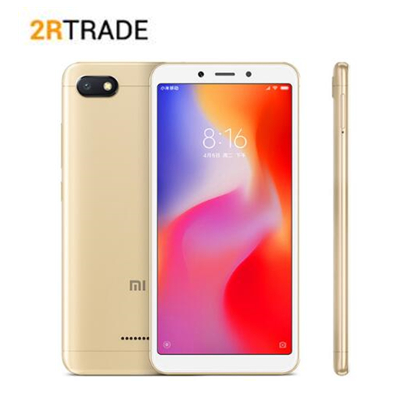 D'origine Xiaomi Redmi 6A 6 UN 2 gb 16 gb Smartphone 5.45 ''18:9 Plein Écran 12nm Helio A22 Quad core 13MP Caméra AI Visage téléphone