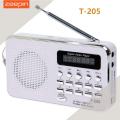 Zeepin T-205 Portable HiFi Card Speaker Digital Multimedia Loudspeaker FM Radio White Camping Hiking Outdoor Sports