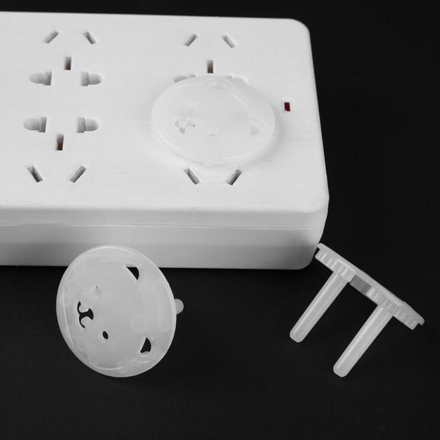 10pcs/lot Power Socket Protection Electrical Outlet Safety Guard Baby Anti Electric Shock Safety Cover Children Bear Plugs Cover