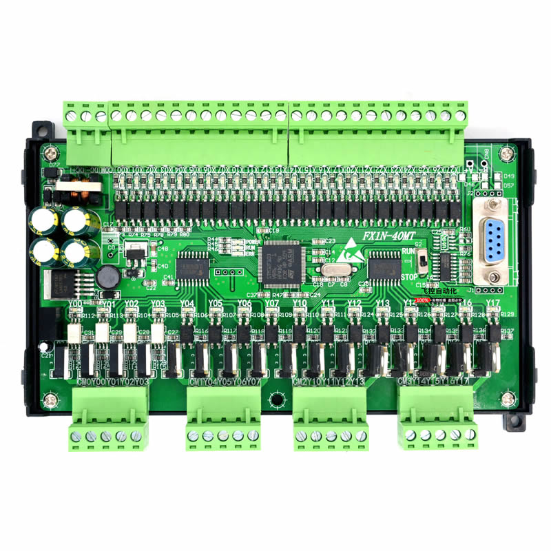 PLC industrial control board FX1N 40MT with 485 MODBUS RTU Communication 24 input 16 output