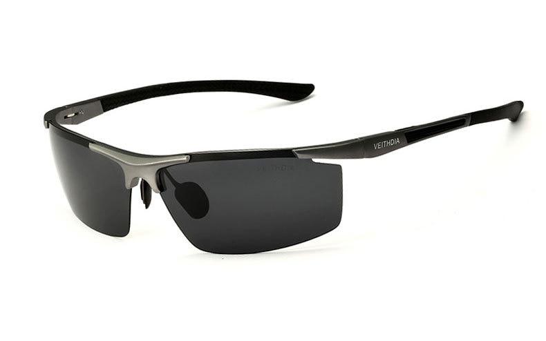 Поляризованные солнцезащитные очки из алюминиевого сплава. Мужские линзы. Зеркальные солнцезащитные очки для рыбалки, спорта и активного отдыха на свежем воздухе. Очки 6588 - Цвет линз: grey