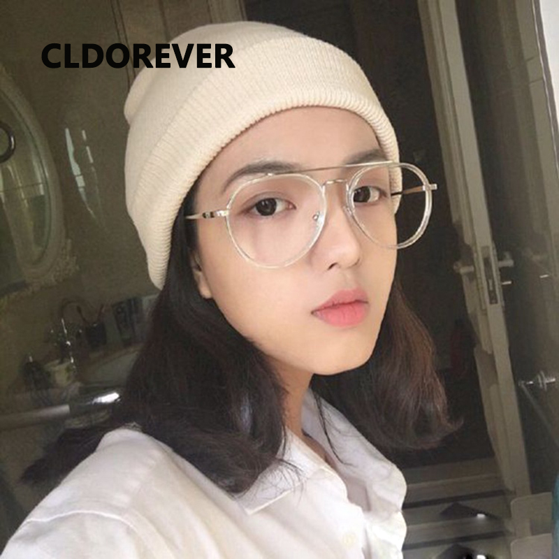 b3b52cfb1c Fashion 2018 Vintage Oversized Optical Glasses Frame Clear Pilot Eyeglasses  Big Eye Glasses Frames For Women Men Eyewear Gafas-in Eyewear Frames from  ...