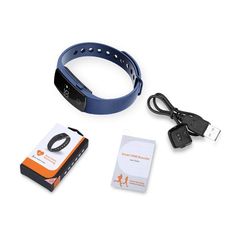 Smart Wristband Heart Rate Monitor Alarm Clock Men Sport Outdoor