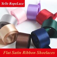 2017 Bestselling 90CM/120CM/150CM Flat Satin Ribbon Children Kids Shoelaces Shoe Laces for Sneaker Sport Shoes