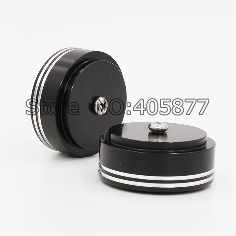 4pcs 39 *17mm Audio Amplifier Speaker Feet With Screw Thread Machine Mats Pads Speaker Accessories Consumer Electronics