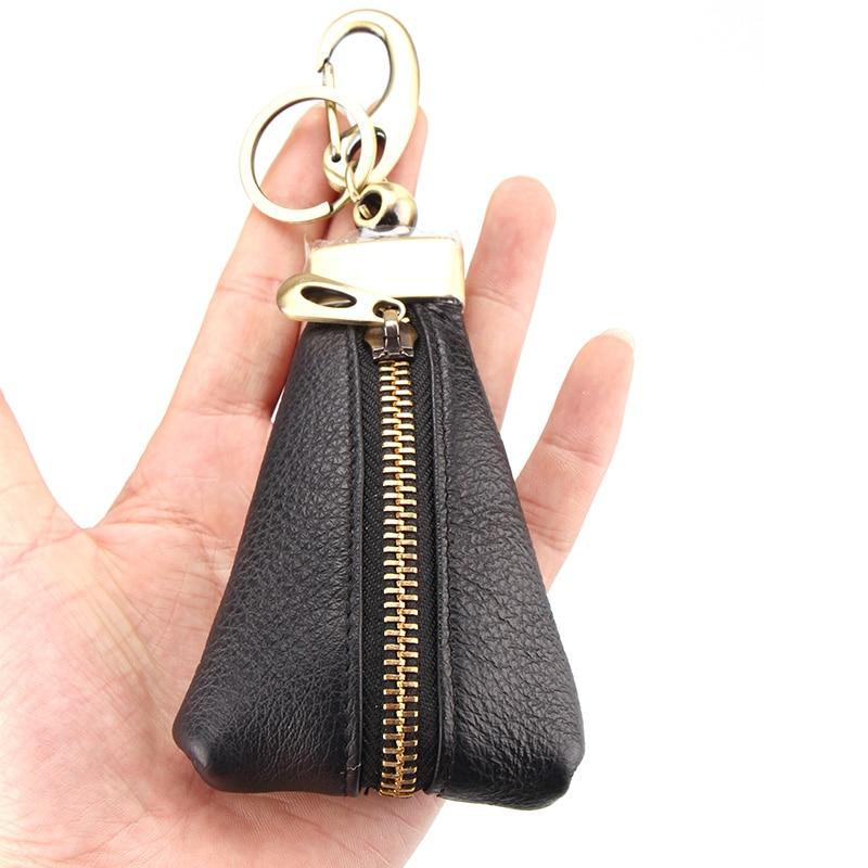 Hot men's cowhide valódi bőr autók kulcstartó pénztárcák női kulcs házvezetőnő pénztárca kulcstartó borítók cipzár kulcs tok táska tok