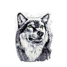 Clothing To Iron-on Patches Personality Wolf A-level Washable Heat Transfer Stickers 25*19cm Appliqued