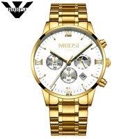 NIBOSI Watch Men Fashion Quartz Clock Mens Watches Top Brand Luxury Full Steel Business Waterproof Watch Relogio Masculino 2018