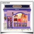 13506 Europeu pequenas lojas loja casa de boneca de madeira diy Casa De Bonecas Em Miniatura frete grátis