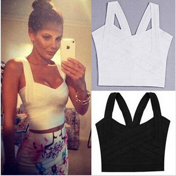 27499d931 Women Bandage Tops Bodycon Tank Tops Women Blusas Feminas New 2015 Plus  Size Crop Tops Casual Tees Active Club Party Wearing