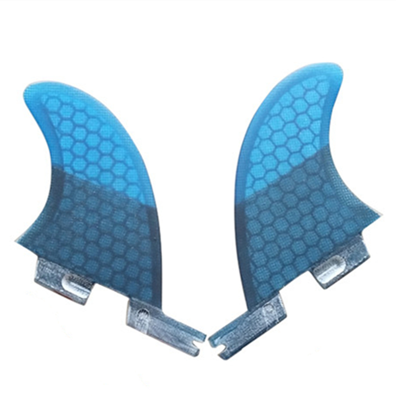 FCSII GL Surfboard Blue/Black/Red/Green color Honeycomb Fins Twin fin set FCS 2 Fin Hot Sell FCS II Fin Quilhas