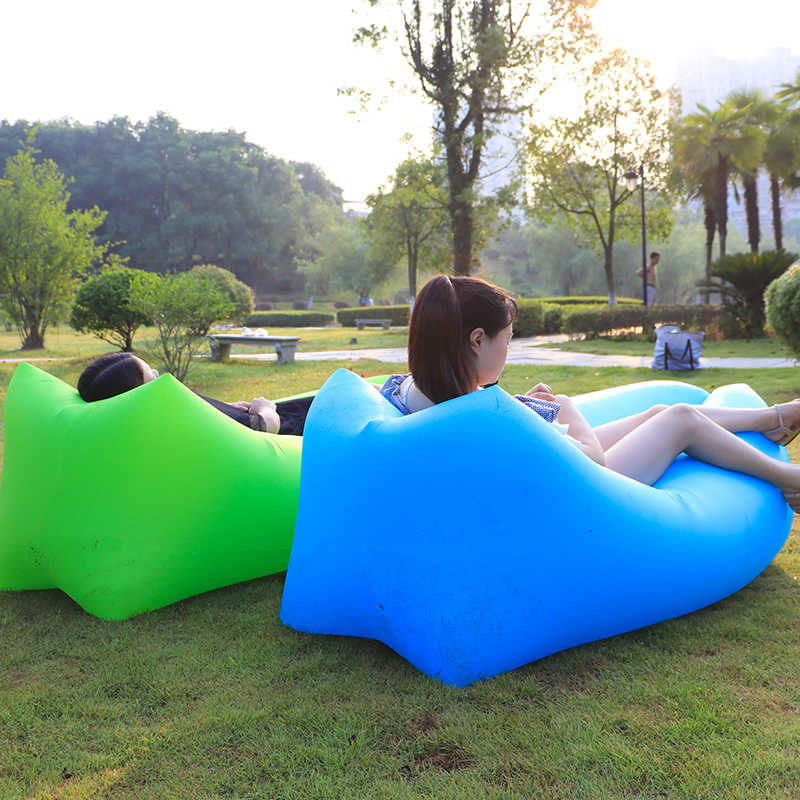 2019 Melhor Design Cama Preguiçoso Sofá Do Saco de feijão Espreguiçadeira Inflável Cadeira Do Sofá Do Ar Foi saco de Dormir Sofá do Saco de Areia Da Praia de Lay sofá preguiçoso
