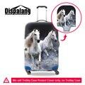 Dispalang прочная водонепроницаемая камера крышка crazy horse печати путешествия упругие чемодан охватывает cool 3D лошадь моющиеся крышку тележки