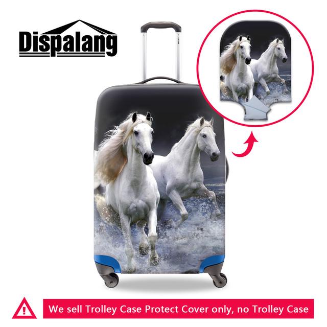 Dispalang durável capa crazy horse impressão à prova d' água bagagem de viagem mala elástica cobre legal carrinho de cavalo 3d lavável capa