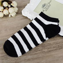 2017 # FASHION  1Pairs Women And Men Comfortable Stripe Cotton Sock Slippers Short  Ankle Socks