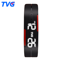 2017 Hot TVG Brand Soft Silicone Bracelet Strap Cartoon Watch LED Display Children Digital Cartoon Watch for kids Gift