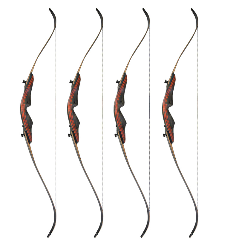 1set 62 quot Archery 20 50lbs Recurve Bow Takedown Hunting Bow Right Hand Traditional Bow For Bow Arrows Hunting Shooting Accessorie in Bow amp Arrow from Sports amp Entertainment