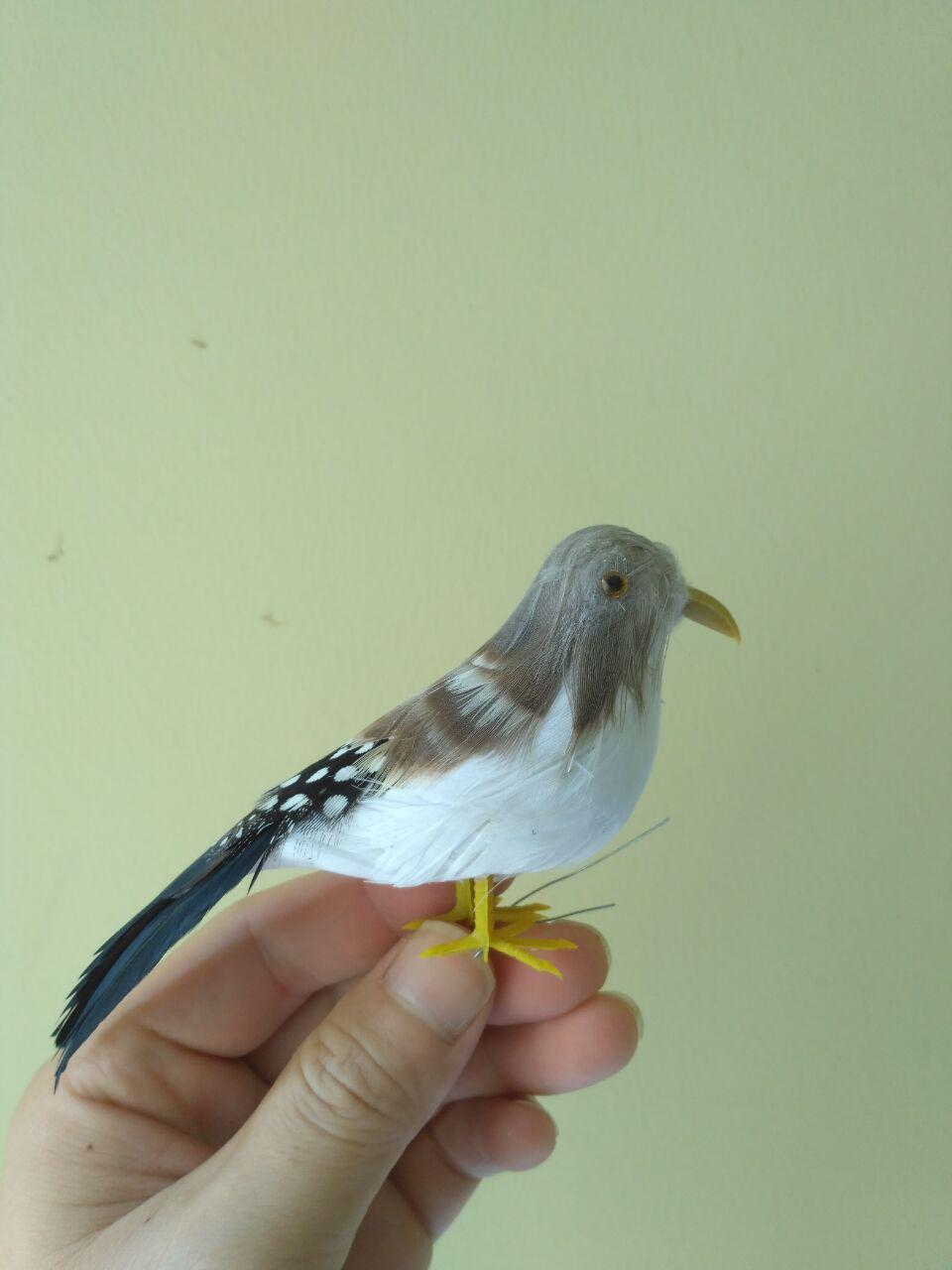mini gray feathers Zebra Finch bird foam&feathers bird about 12cm игрушка ecx ruckus gray blue ecx00013t1