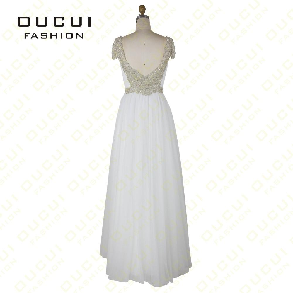 Tulle Fabric Pleat With Beading Handwork Bridesmaid Mermaid Long Prom Dress With Stones OL102785 vestido de festa de casamento 20