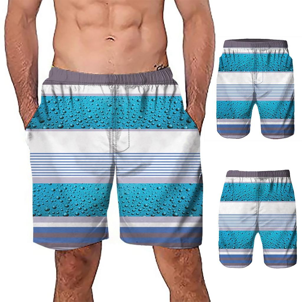 Brand   Board     Shorts   Men Beach Swimwear Swim   Short   Trunk Stripes Bermudas Man Boardshorts Male Sport Sweatpants Inside Mesh Stripe