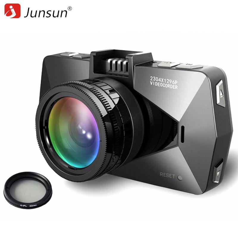 imágenes para Junsun A99 Cámara Del Coche DVR de Ambarella A7 con el Maderero del GPS Dash Cam Full HD 1080 P de la Cámara Auto Video Recorder Visión Nocturna de Radares