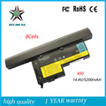 8Cell 14.4v 5200mah Japanese Cell New Laptop Battery for lenovo x61 x60 x60s x61s