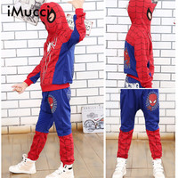 IMucci Spiderman Baby Boys Clothing Sets Cotton Sport Suit For Boys Clothes Spring Spider Man Cosplay